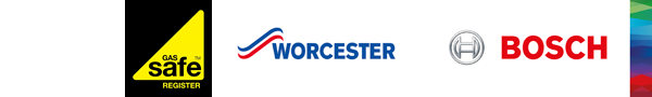 Gas Safe Registered & Worcester Bosch Accredited Logos